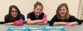 3 girls from Logan Lake - battle of the books